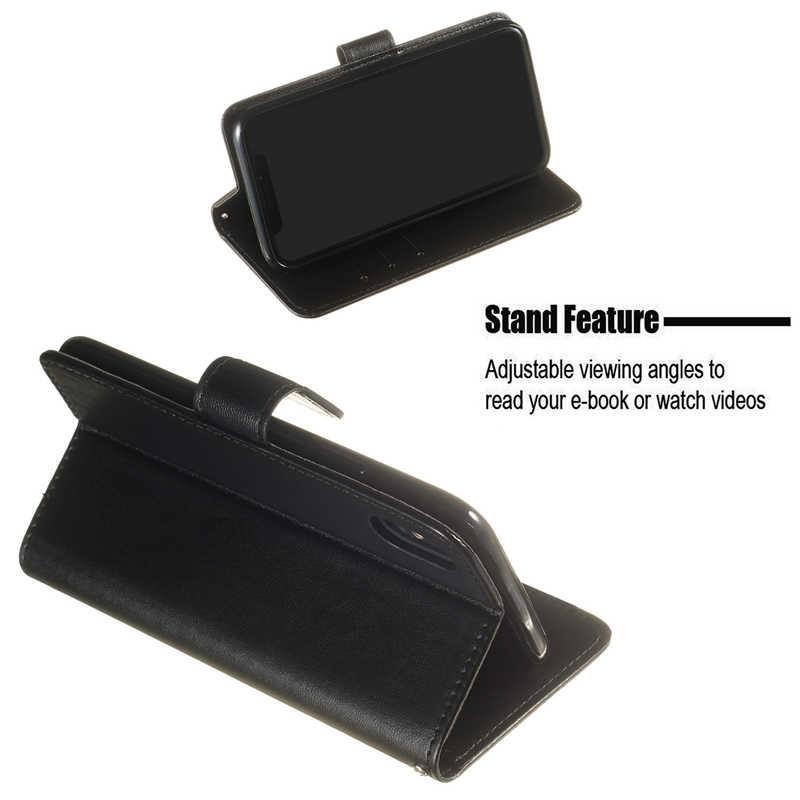 Flip Coque untuk Redmi 7 K20 Note 4 5 6 7 Dompet Kulit Phone Case untuk Xiaomi 8 Lite 9 se Max3 F1 6X Stand Cover Aksesoris