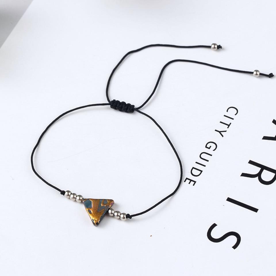 Boho Ankle Bracelet Bohemian Colorful Heart Beads Jesus Cross Turtle Butterfly Infinity Triangle Anklet Women's Leg Bracelet (48)