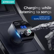 Joyroom Snelle Autolader Fm zender Modulator Bluetooth 5.0 Handsfree Car Kit Audio MP3 Speler Met QC3.0 Dual Usb Adapter