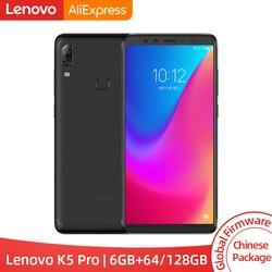 Global ROM Lenovo K5 Pro 6GB RAM 64GB / 128GB Snapdragon 636 Octa Core Four Cameras 5.99 inch 4G LTE Smartphone 4050mAh