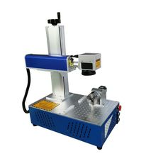 Raycus rotary axis included 30W 20W mini fiber laser marking machine Fiber Laser Marking Machine all in one