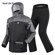 Adults Motorcycle Raincoat Rain Pants Suit Men Rain Jacket Poncho Thickened Reflective Rain Coat Clothes Waterproof Suit Gift