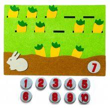 1 個漫画の動物のデジタルマッチング番号指導のおもちゃ子供アーリーラーニング教育不織布フェルト素材diyのおもちゃ