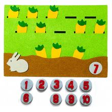 1Pcsการ์ตูนสัตว์ดิจิตอลการจับคู่ตัวเลขสอนของเล่นเด็กการเรียนรู้การศึกษาไม่ทอวัสดุDIYของเล่น