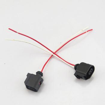 FHAWKEYEQ 2 sztuk 2 Pin ABS wtyczka czujnika kabel do VW Touran Polo Passat B7 Tiguan Golf MK6 MK7 A4 Q3 Superb Yeti Octavia 6E0973702 tanie i dobre opinie CN (pochodzenie) A4 A8 Q3 ABS Sensor Plug Wire Czujnik prędkości pojazdu 6E0 973 702 8T0 973 702 Fotoelektryczne 6E0973702 8T0973702
