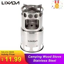 Lixada נייד עץ תנור Firewoods תנור חיצוני תנור בישול מבער קל משקל נירוסטה פיקניק קמפינג עץ תנור