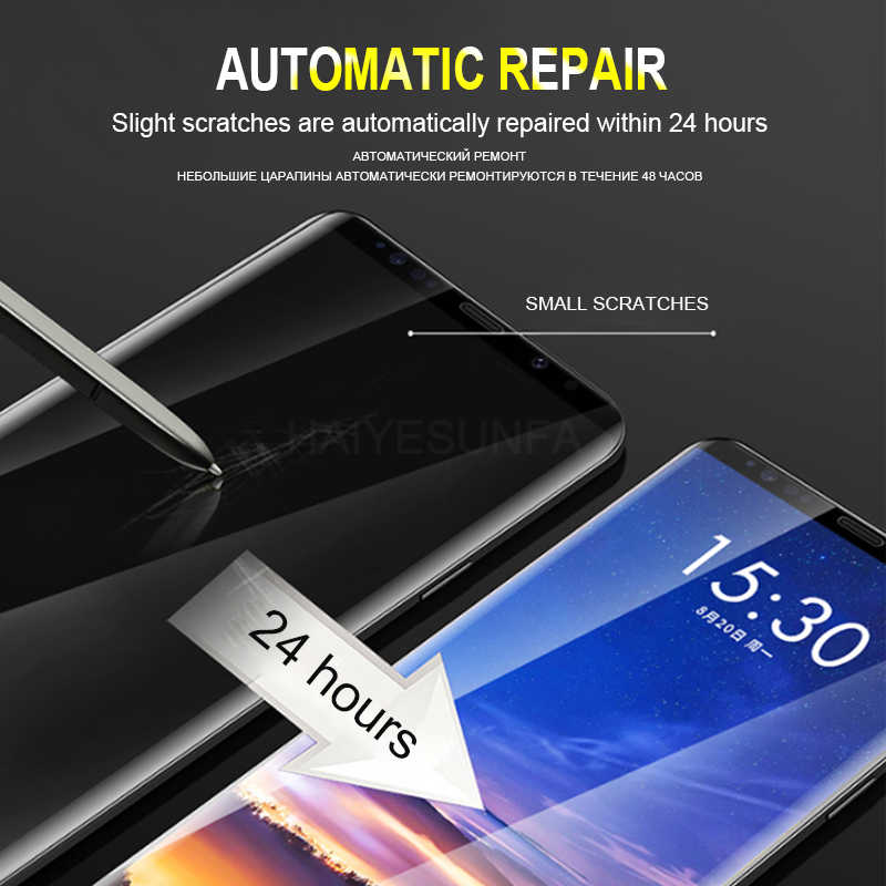 20D Kurve Screen Protector Film Für Samsung Galaxy Note 10 Plus S8 S9 S10 Voll Film Hydrogel Abdeckung S8 S9 s7 S10e Plus Nicht Glas
