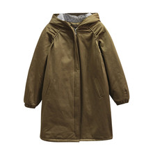2019 New Plus size 3XL-6XL Autumn Winter Thicken Trench coat Women Hooded Outerw