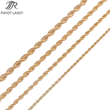 High Quality Gold Plating Rope Chain Stainless Steel Necklace For Women Men Gold Fashion Rope Chain