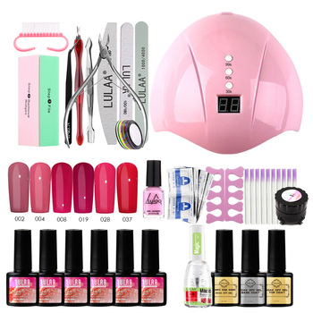 Gel Nail Polish Set With16/18/27Pcs Nail Manicure Set For Gel Varnish Tool For Manicure 36W Lamp Nail Set For Nail Art Nails Kit 1set nail drill bits set nail art polish manicure pedicure machine nail brushes gel nails polish remover makeup tool kit eu plug
