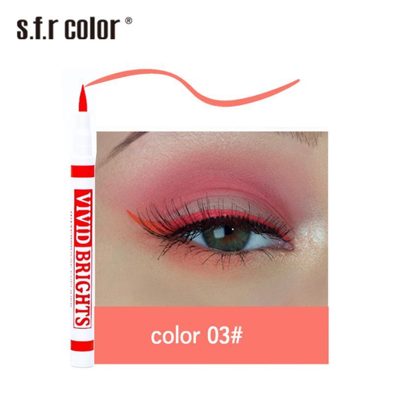 Матовая цветная жидкая подводка для глаз, 6 цветов, стойкая Водостойкая Подводка для глаз с защитой от пятен, быстросохнущая подводка для глаз косметический макияж для глаз TSLM2