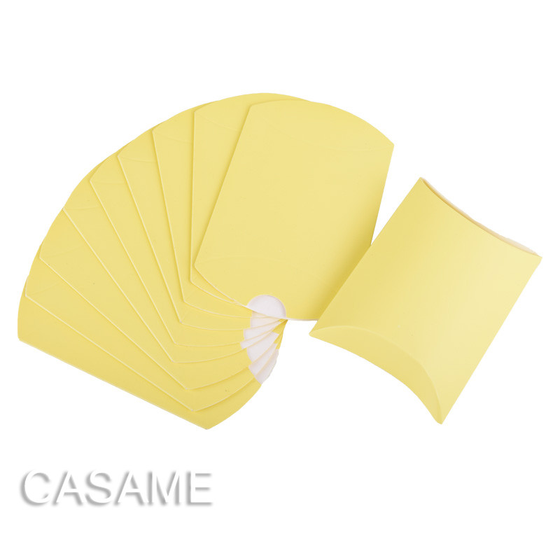 10 шт. коробка конфет сумка крафт бумага Подушка Форма свадебный подарок Коробки пирог вечерние коробка сумки эко дружественные крафт-продвижение - Цвет: Yellow