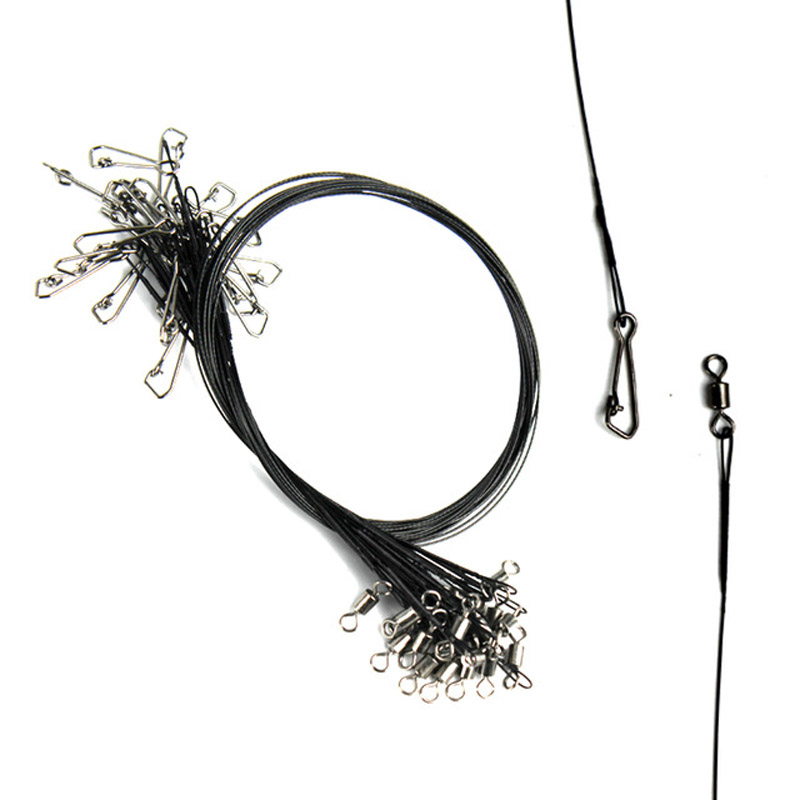 Details about  /Anti-bite Wire Line Fishing Bait Hook Tracer With Swivel Connector Accessories