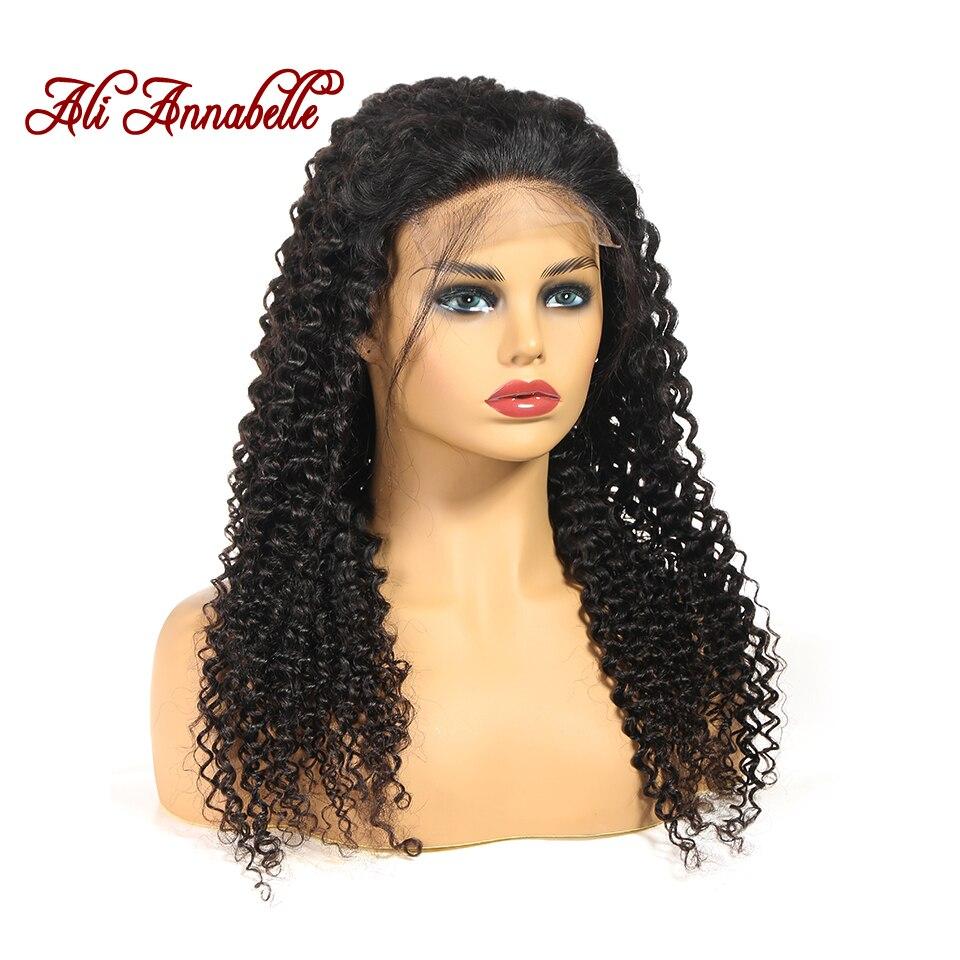 He367ca15f6e1495ab8219b577fc440d3z Curly Human Hair Wig 4*4 5*5 Lace Closure Human Hair Wigs With Baby Hair Brazilian kinky Curly Hair Wigs ALI ANNABELLE HAIR