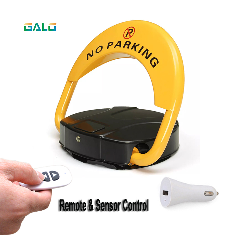 2 Remote Folding Safety With Automatic Sensor With Parking Lock Barrier Guard Column With Lock And Bolt (excluding Battery)