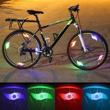 Światło rowerowe wodoodporne koło rowerowe szprychy lekka lampa wierzbowa LED kolarstwo światła rowerowe akcesoria rowerowe rowerowe tanie tanio Bicycle light73 Koła szprychy Baterii