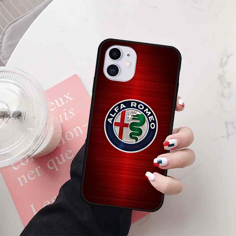 Wumeiyuan Super Car Alfa Romeo Logo case coque fundas for iphone 11 PRO MAX X XS XR 4S 5S 6S 7 8 PLUS SE 2020 cases cover