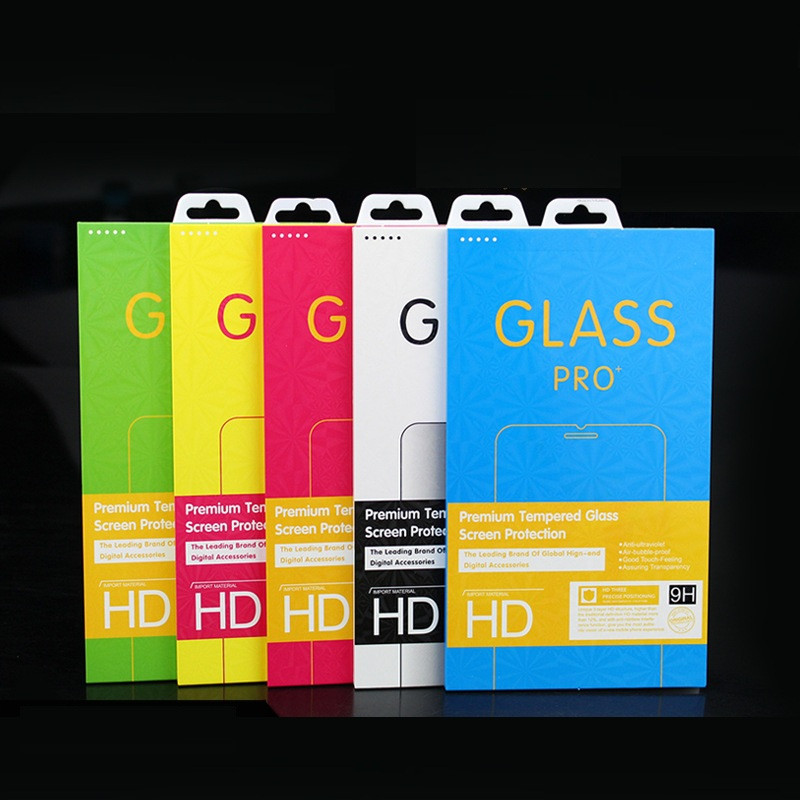 50pcs Empty Retail Package Paper Packaging Box for iphone 11 pro max <font><b>samsung</b></font> s9 s10 Tempered <font><b>Glass</b></font> Screen Protector Box image
