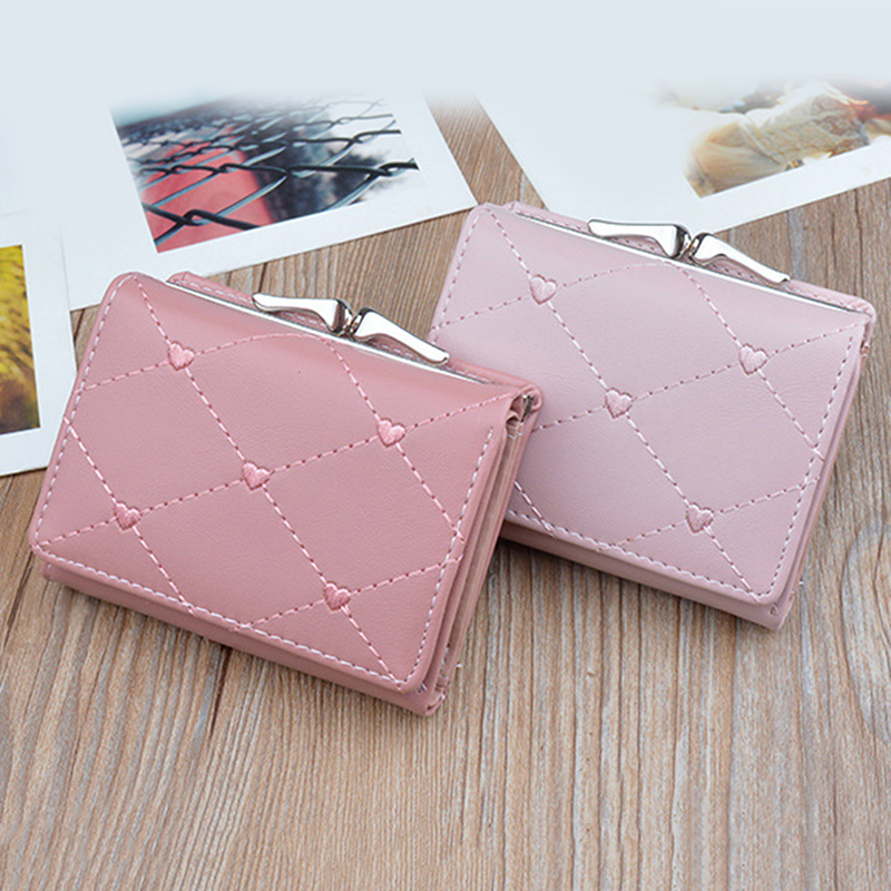 estilo curto multi-funcional carteira bolsa de couro