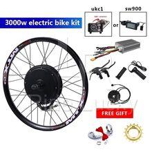 135mm ausfallenden 48v-72v 3000w electric bike conversion kit mit lcd meter 100km/h geschwindigkeit max