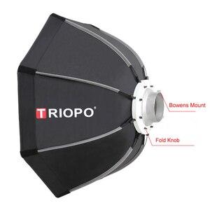 Image 2 - Triopo K65 65cm Portable Bowens Mount octogone extérieur parapluie Softbox pour Photo Studio stroboscope photographie boîte souple lampe vidéo