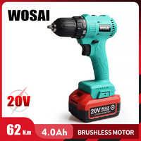 WOSAI 20V perceuse sans fil sans fil tournevis électrique Mini pilote d'alimentation sans fil batterie Lithium-Ion cc 3/8 pouces