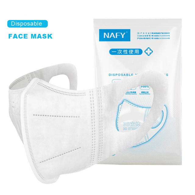 【10pcs/Bag】NAFY 3D Face Mask Protective Mask 3 Layer Mouth Masks Disposable Anti-Fog Filter Mask Wholesale