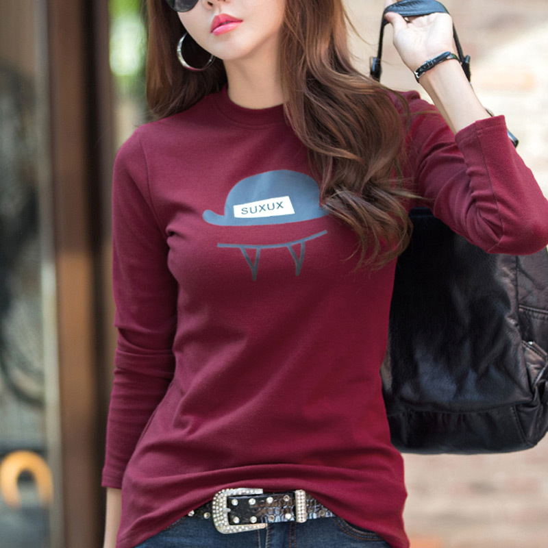 95 Cotton Winter Basic Pullover Women Sweater Print Cartoon Casual Long Sleeve Pull Female Knitted Tops Korean Slim Jumpers in Pullovers from Women 39 s Clothing