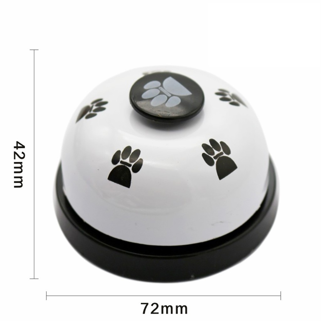 Transer 1pc Pet Dog Traning Supply Pet Feet Print Metal Bell Dog Toys Interactive Pet Toy Drop Shipping 207-5