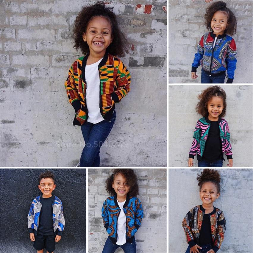 Children Afircan Clothes 2020 News Baby Girl Boy Dashiki Print Coat Fashion Clothing Ankara Kids African Dresses for Women