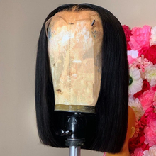 Short Bob Lace Front Wig Straight Frontal Human Hair Wigs Brazilian Remy Closure Wig 180 Density Pre Plucked For Black Women