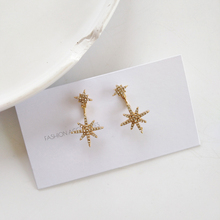S925 needle New French Style Small Star Earrings Women Jewelry High Quality Bling  Simple Dangle Gift