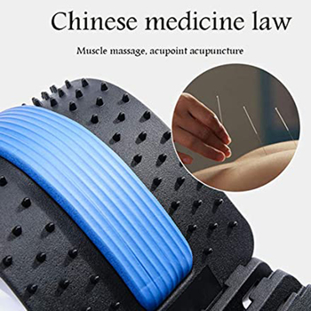Dropship Back Massager Stretcher Fitness Massage Equipment Stretch Relax Stretcher Lumbar Support Spine Pain Relief Chiropractic neck back head massager stretcher cervical traction stretch gear brace device kit adjustment chiropractic pain relief relaxation
