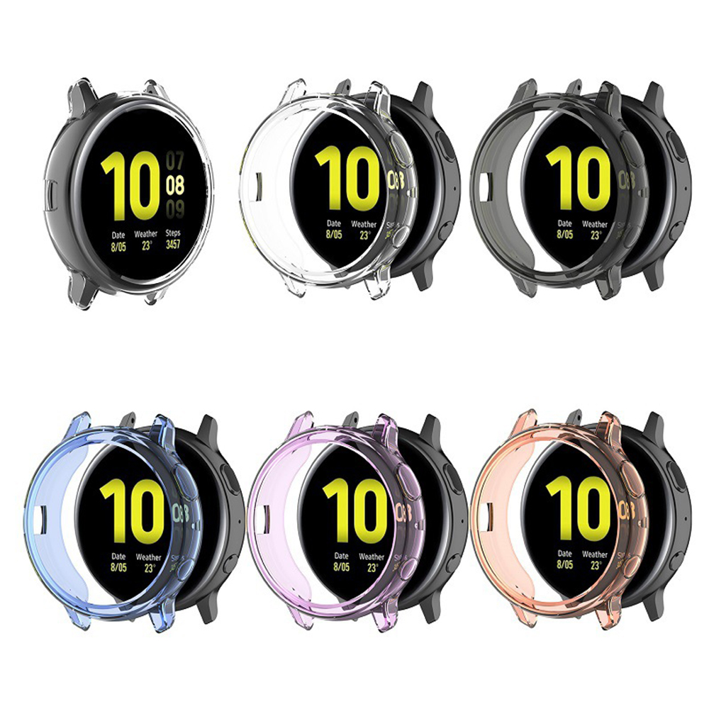Transparent TPU Silicone Protective Case For Samsung Galaxy Watch Active 2 44mm 40mm SM-R830 R820 Cover Replacement Accessories