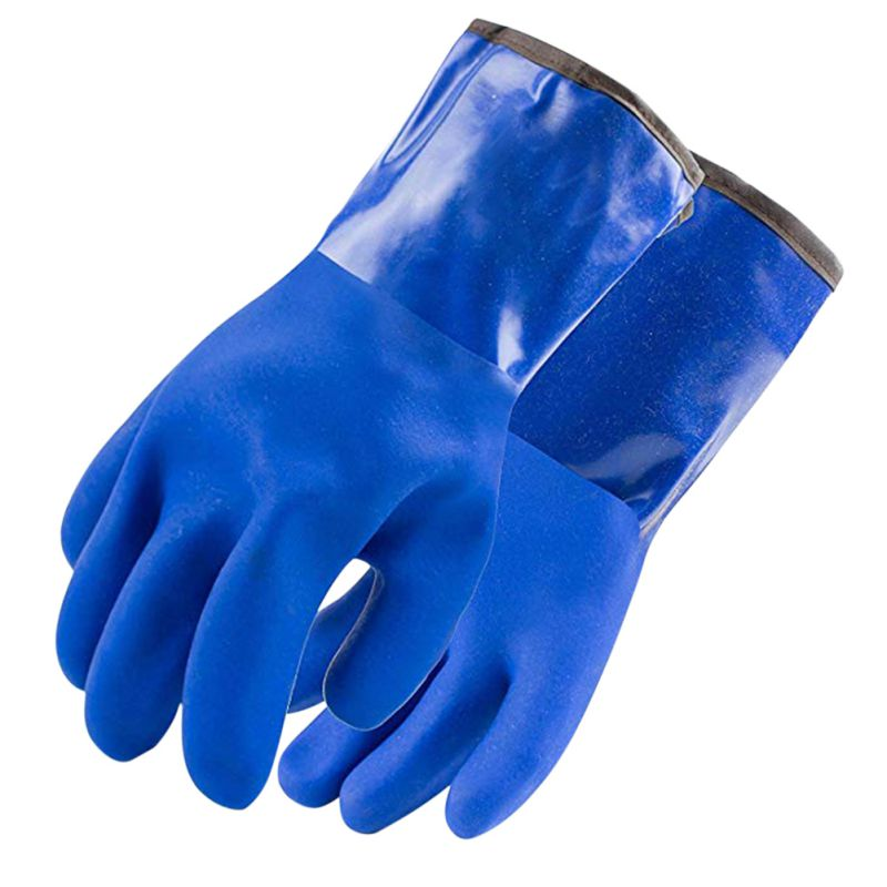 Multifunction Waterproof Resist Strong Acid&Alkali Anti-oil Heavy Duty Latex Gloves Winter PVC Thermal Gloves With Warm Fibres