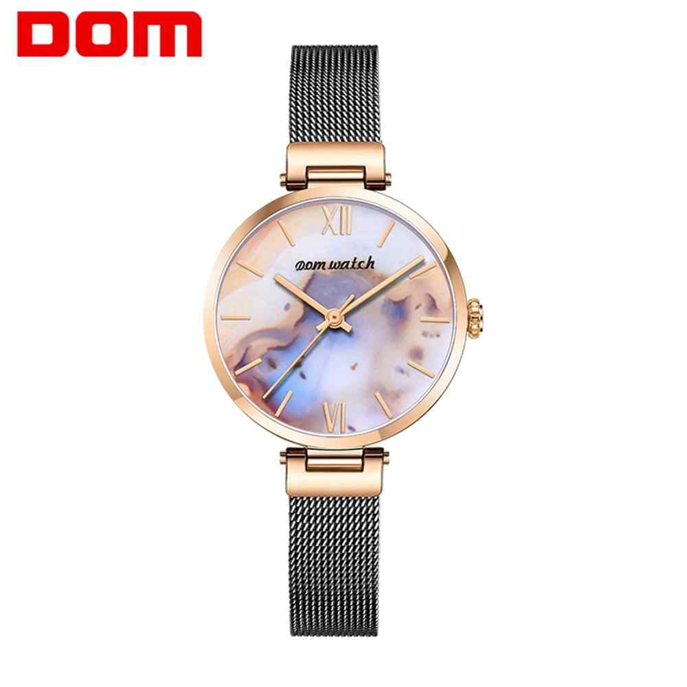 Women Watches New DOM Rose gold Silver Ladies Bracelet Watch womens quartz dress wristwatch feminino reloj mujer kol saati