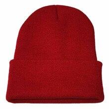 Зимняя вязаная Повседневная шапка в стиле хип-хоп для взрослых, женская и мужская акриловая вязаная шапка унисекс, однотонный, сохраняющий тепло эластичные шапки# YL5