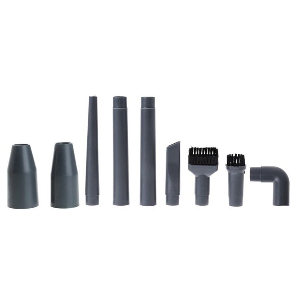 9Pcs/Set Universal Vacuum Cleaner Accessories Multifunctional Corner Brush Set Plastic Nozzle
