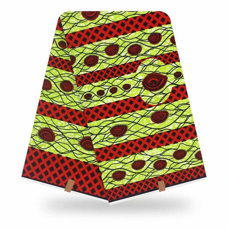 African Fabric Wax Print Cotton Real Wax Fabrics Ankara Cloth 100% Pange 6yards High Quality African Wedding Dresses Fabric Wax
