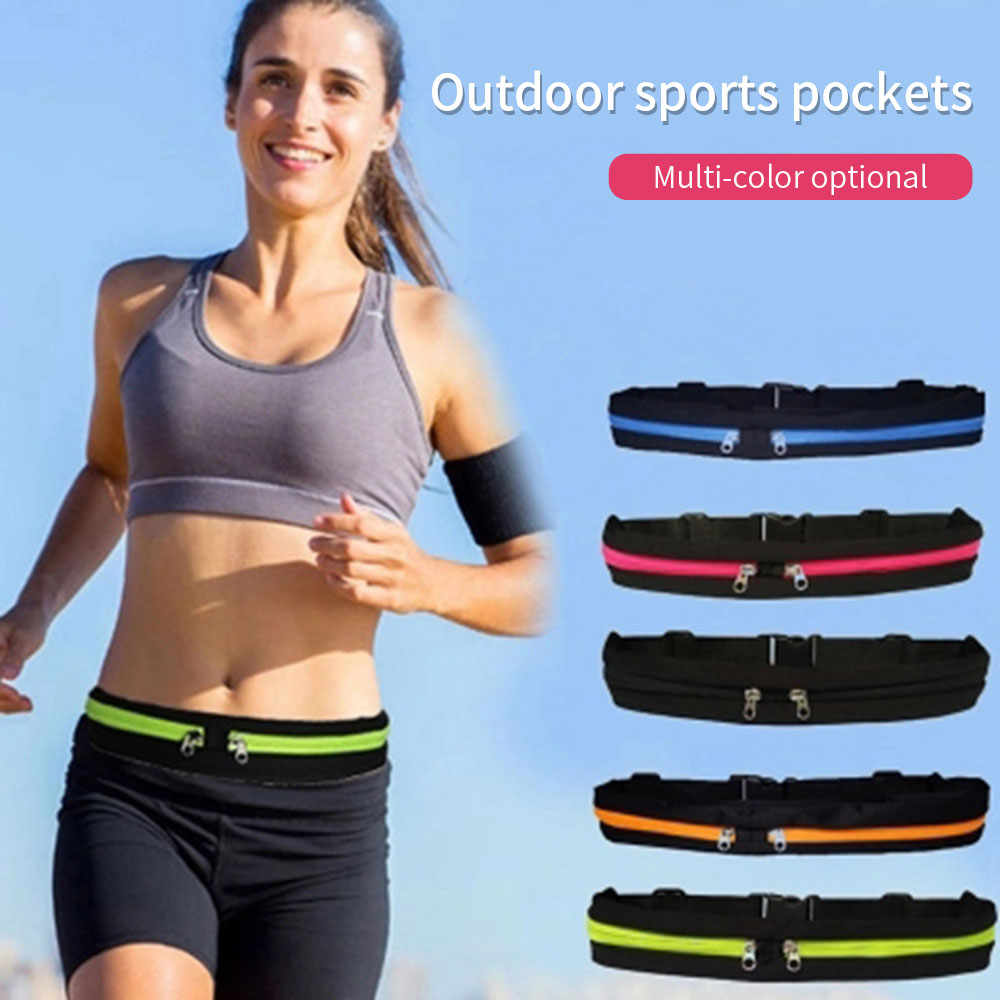 Universal Sport Waist Bag Zipper Arm Band Running Phone Case Belt Pouch Arm Phone Holder For Mobile Phone Below 6'' Inch Case