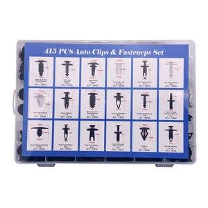 Image 3 - 415Pcs Car Auto Push Pin Rivet Trim Vehicle Body Plastic Push Pin Rivet Fastener Trim Clip Repair Assortment Kit for BMW E46 E39