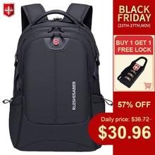 Su geçirmez erkek sırt çantası Unisex dizüstü USB şarj sırt çantası naylon rahat okul çantaları seyahat erkek Mochila 15 17 inç