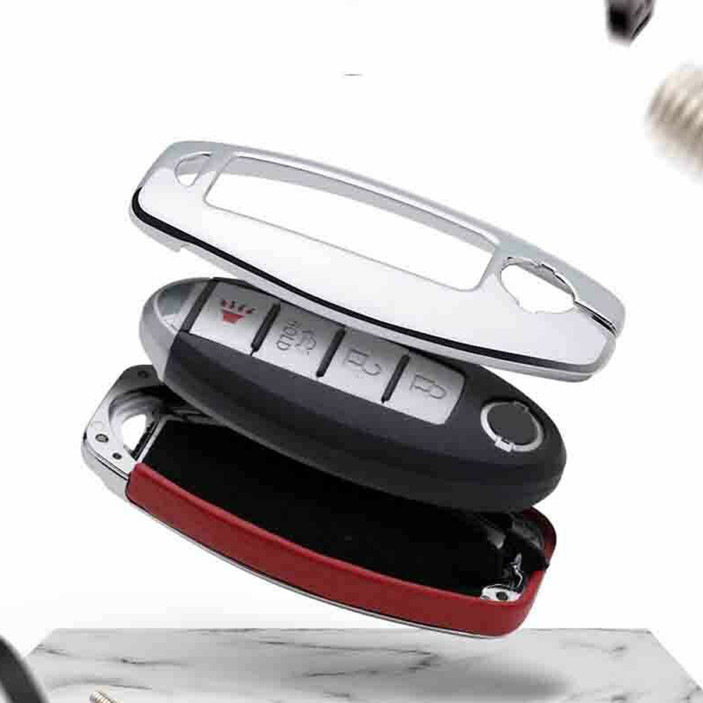 Protector Car Key case Metal Leather Remote For Infiniti Nissan Anti scratch