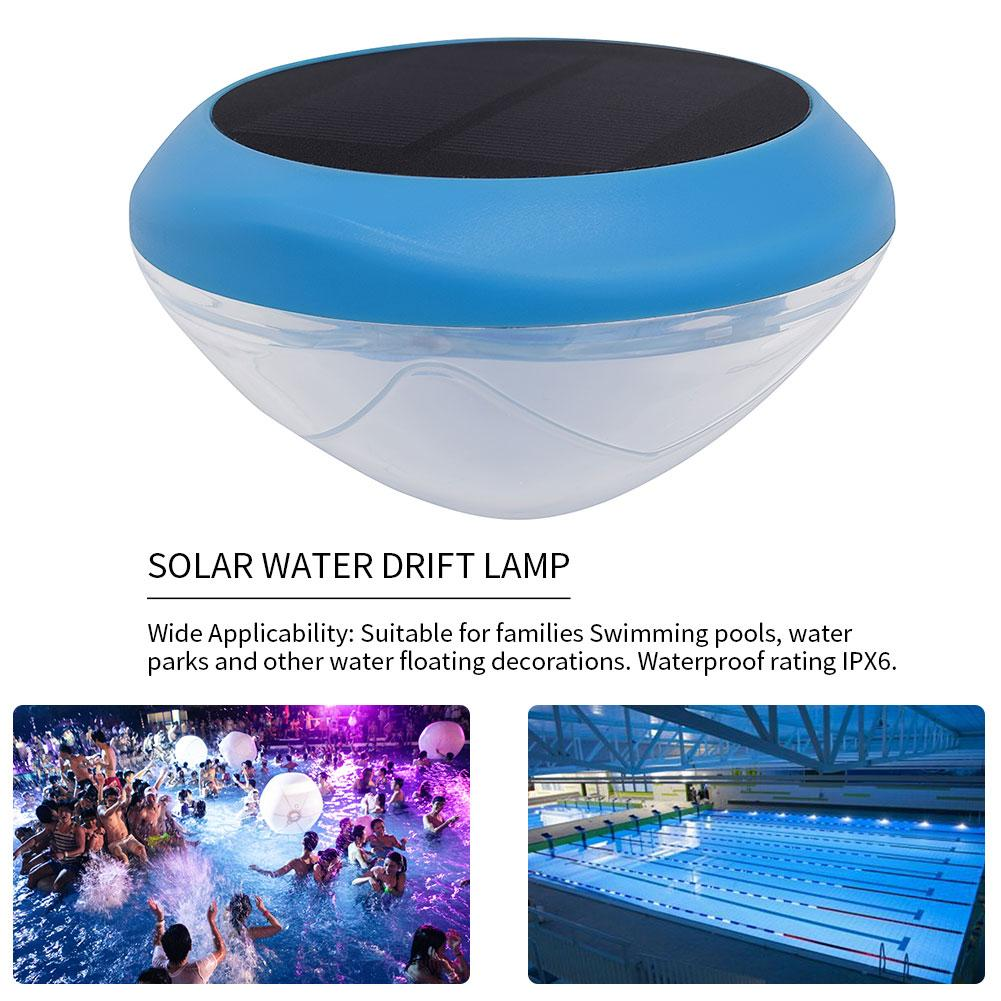 Solar Powered LED Water Floating Ball Lamp IPX6 Underwater Color Drift Lamp For Yard Pond Garden Pool Decoration Light