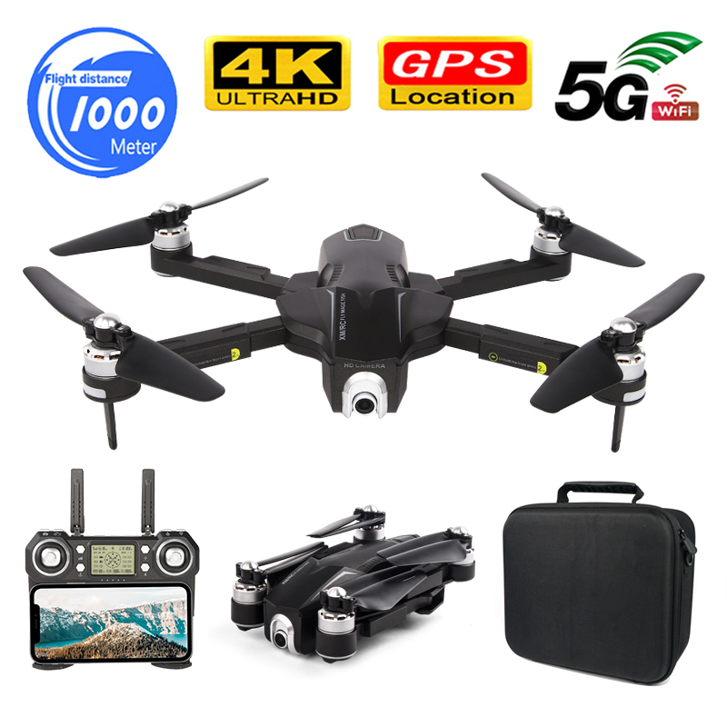 GPS FOLLOW ME WIFI FPV Quadcopter With ESC Camera HD Brushless Foldable Drone 4K Dual Camera Video 1000M 30Minute Flight RC Dron