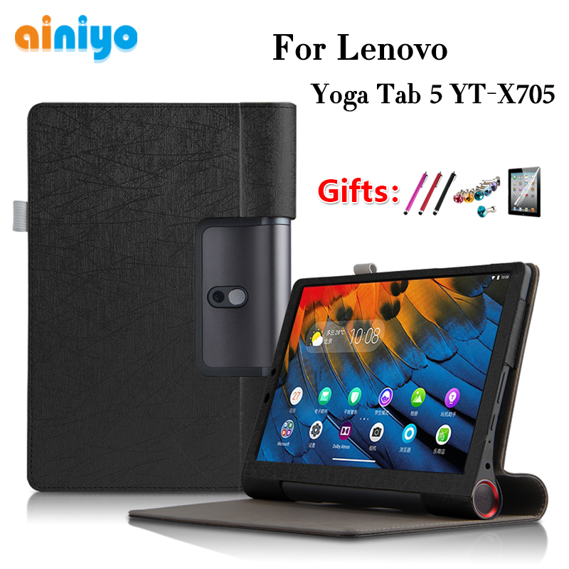 """Protective Case For Lenovo Yoga Smart Tab YT X705F 10.1""""tablet For Lenovo Yoga Tab 5 YT X705 Cover Case + film gifts Tablets & e-Books Case     - title="""