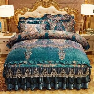 Image 5 - Parure de couette Chic Vintage, en dentelle à volants, avec jupe de lit et taies doreillers, ensemble de literie de luxe, Ultra doux et chaud, pour lhiver