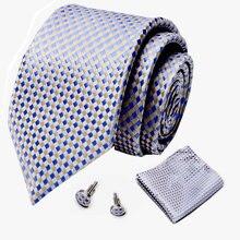 Красные шелковые мужские галстуки с геометрическим рисунком