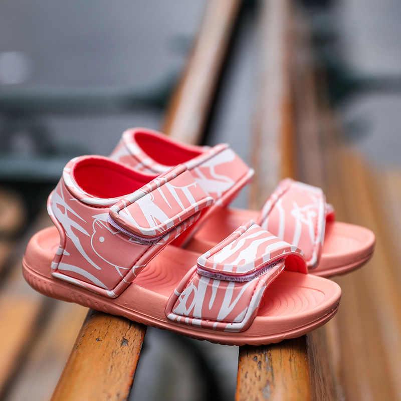 2020 어린이 소녀 샌들 여름 새로운 비 슬립 비치 신발 오픈 어린이 샌들 야생 소년 학생 어린이 신발