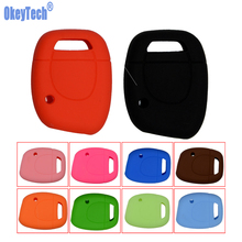 OkeyTech Silicone Key Shell Cover For Renault Clio Kangoo Twingo 1 Button Remote Key Blank Colorful for Car Key